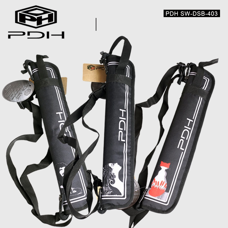 PDH Personalized Easy Carry Drumstick Bag Waterproof Carrying Case, Fit 4 Pairs With 3 Designs