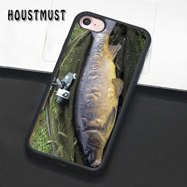 HOUSTMUST PESCA DA CARPA PEIXE Caso capa Para iPhone 5 5S SE 6 6 S 7 8 X XR XS max samsung galaxy S5 S6 S7 borda S8 S9 S10 Plus Note9