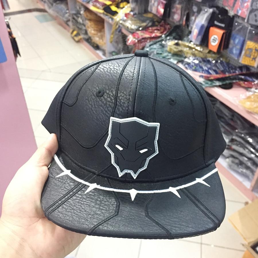 Adult s Marvel Black Panther baseball hat Snapback adjusted PU cap sunhat  Hip Hop Hat For Men f35a7d7b4c8d