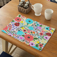 Tableware Mats Pads Country Flower Placemat Table Mat Western Pad Placemats Double Thick Tea Party Decorations