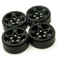 4Pcs/lot RC CNC Alloy Wheel Hubs 1.9 Beadlock 5 Spoke Aluminum Wheels Rims For 1/10 RC Crawler SCX10 CC01 F350 D90 RC4WD Upgrade