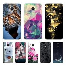 лучшая цена For Meizu M5C Case Cover Meizu A5 Case Soft Silicone TPU Printed Phone Back Cover Case For Meizu M5C M 5C M710H Funda Bumper 5.0