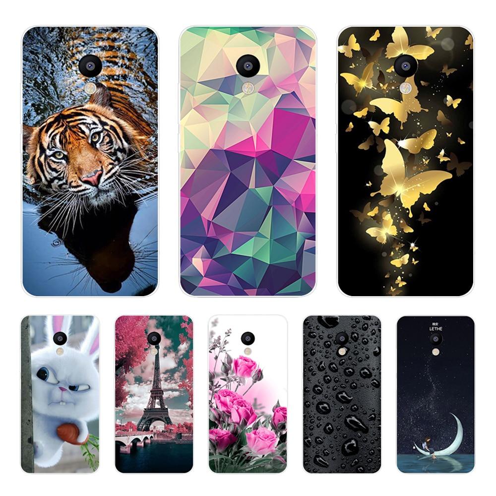 For Meizu M5C Case Cover Meizu A5 Case Soft Silicone TPU Printed Phone Back Cover Case For Meizu M5C M 5C M710H Funda Bumper 5.0