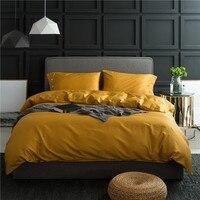 4Pieces White Coffee Blue Silver Grey Queen King Size Bedding Set 100%Egyptian Cotton Soft Bedsheet Set Duvet Cover Pillowcase