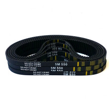 free HTD5M belt 550-5M-25 Teeth 110 Length 550mm Width 25mm 5M timing rubber closed-loop 550 HTD S5M Belt Pulley
