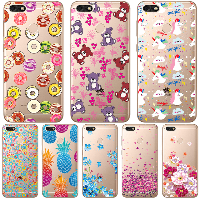 Phone Cases For Huawei P9 Lite Mini P8 Lite 2017 Case For Huawei Honor 8 Lite Cover Transparent Painted Silicone Soft TPU Bumper