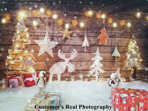 Yeele Dreamy Snowflake Christmas Tree Photo Backdrop 6x4ft Selfie Portrait and Holiday Picture Photography Background New Year Xmas Events Photo Booth Photoshoot Props Wallpaper
