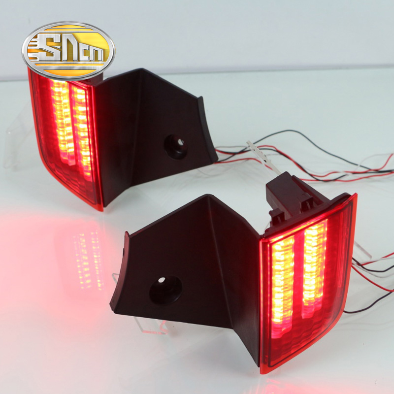 SNCN Multi-functions Car LED Rear Fog Lamp Brake Light Bumper Light Auto Decoration Lamp For Mitsubishi Pajero Sport 2016 2017