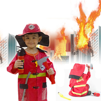 Hight Quliaty Kids Cosplay Sam Fireman Costume Child Christmas Halloween Firefighter Christmas Fancy Party Wear Cosplay