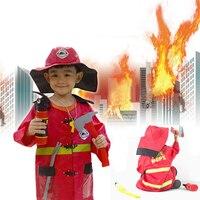 Hight Quliaty Kids Cosplay Sam Fireman Costume Child Christmas Halloween Firefighter Christmas Fancy Party Wear Cosplay