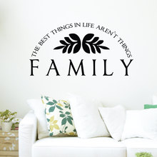 Family Wall Decal Removable Theme Quotes The Best Things In Life Stickers Vinyl Home Interior Livingroom DecorSYY836