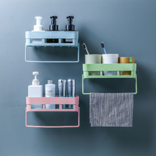 Bathroom Storage Rack Punch Free Hollow Out Drain Single Tier Shampoo Shower Gel Cosmetic Holder Towel Rack Kitchen Organizer цена 2017