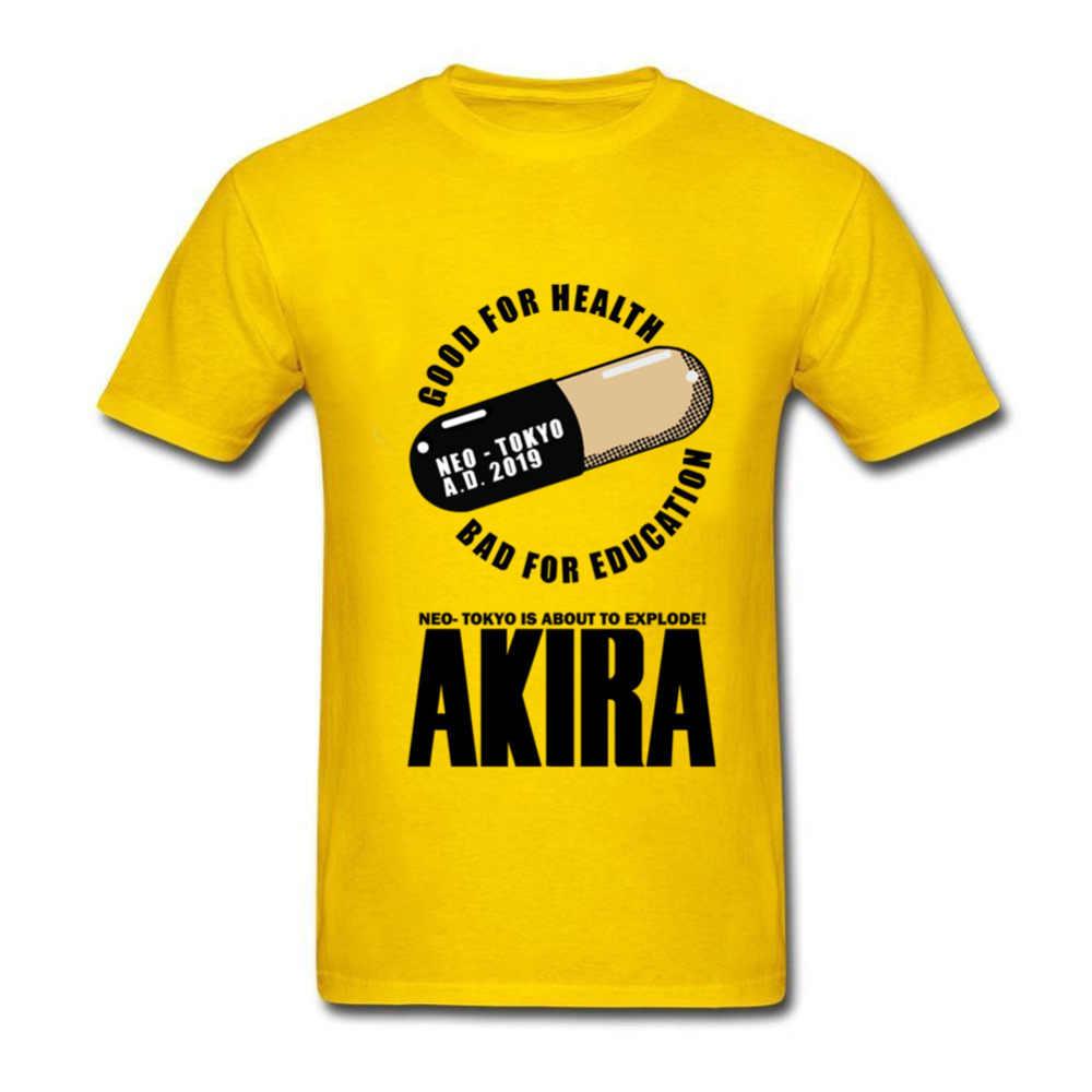 Японского аниме Акира Capsule футболки мужские дизайнерские Печать Хлопок SWAG футболки на заказ большой размер футболка 3XL Kanye West футболка