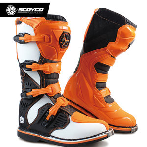 Image 4 - SCOYCO Off road Long Racing gear Boots Motocross Motorbike Riding Long Knee High Shoes Heavy Protective Gear boots