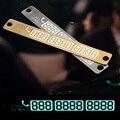 Tarjeta de Número De Teléfono Número de teléfono Tarjeta de Aparcamiento Temporal 3D Placa Lechón Coche Etiqueta Engomada Del Cuerpo Con La Noche Luminosa