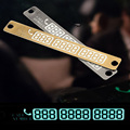 Telephone Number Temporary Car Parking Card 3D Phone Number Card Plate Sucker Car Body Sticker With Night Luminous