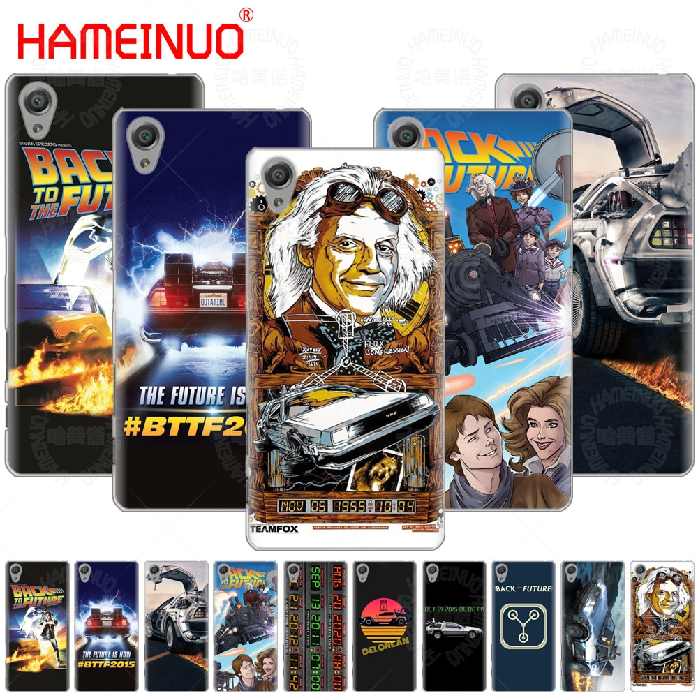 Delorean Back To The Future time Cover phone Case for sony xperia C6 XA1 XA2 XA ULTRA X XP L1 L2 X XZ1 compact XR/XZ PREMIUM