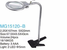 Magnifying Glass With Clamp 2.25X 107MM 5X 22MM LED