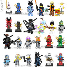 2018 HOT NINJA Heroes Kai Jay Cole Zane Nya Lloyd With Weapons Action Toy Figure Kids Building Blocks Brick Model Sets(China)
