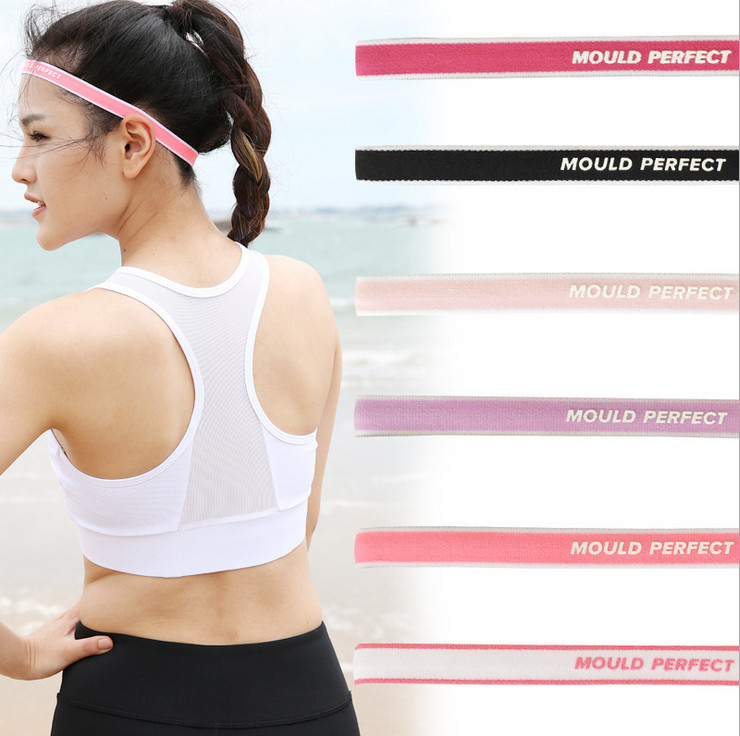 2017 Solid Color High Quality Polyester Sweat Headband For Men Sweatband women Yoga Hair Bands Head Sweat Bands Sports Safety