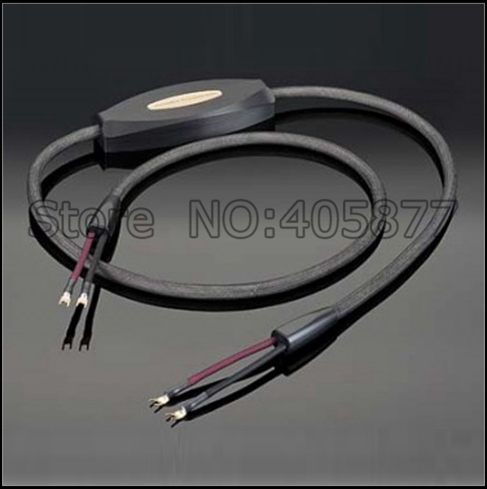 High end audio speaker cable with Gold plated Y spade-in Audio ...