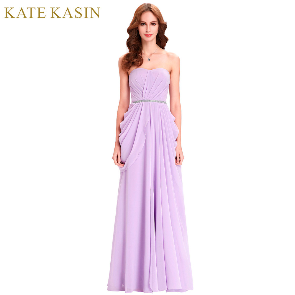 Kate kasin lavanda Vestidos de dama de honor largo vestido de gasa ...