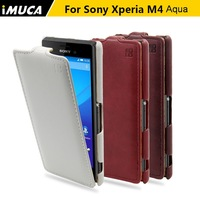 For Sony Xperia M4 Aqua Case 100 Original Leather Case Cover Pouch For Sony Xperia M4