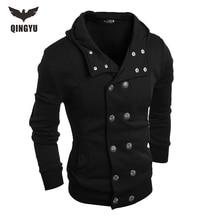 Hot 2017 New Arrival Gary Cotton Mens Winter Hoodies Villus Male Sweatshirts High Quality Askew Button Hooded Brands Men's Coats
