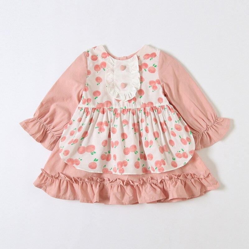 Enfants vêtements Style japonais fleurs imprimer enfant en bas âge princesse baptême robe de soirée pour les filles infantile baptême anniversaire robe 0-3Y