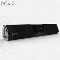 M J 20W Wireless Bluetooth Column Dual Speaker Subwoofer Home Theater Loudspeaker 3D Stereo Super Bass