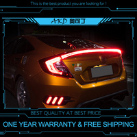 AKD tuning cars Tail lights For Honda CIVIC X G10 2015 2018 Taillights LED DRL Running lights Fog lights angel eyes Rear parking