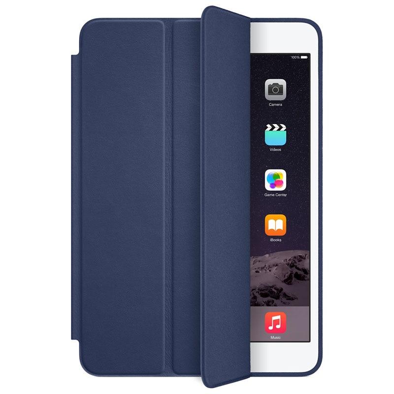 CARPRIE Tablet Case For iPad mini 1 2 3 Retina Smart Case Slim Stand Leather Cover Dark Blue Feb4 MotherLander  цены