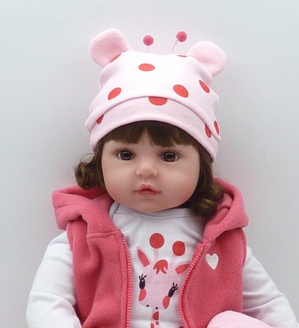 Bebe poupée reborn 48 cm Silicone reborn bébé poupée adorable Réaliste enfant Bonecas fille kid menina de silicone surprice poupée lol - 6