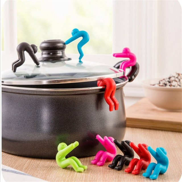 1Pcs Kitchen Accessories Silicone Lift Pot Cover Overflow Device Heighter Tool Cucina Accessori Kitchen Gadgets . L 3