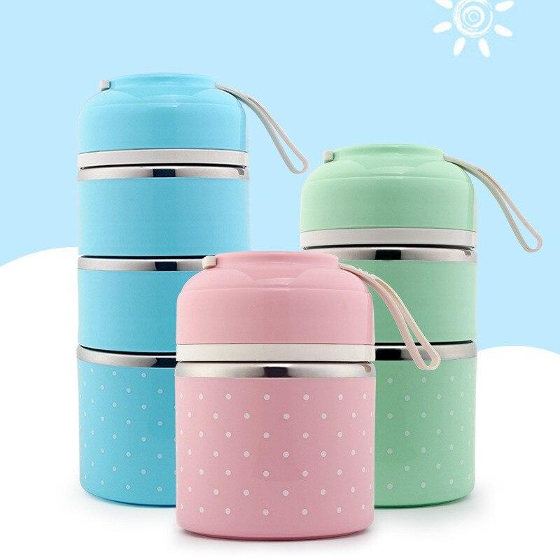 Boîte à déjeuner thermique japonaise, boîte à Bento en acier inoxydable à l'épreuve des fuites pour les enfants, conteneur alimentaire scolaire, fournitures de cuisine