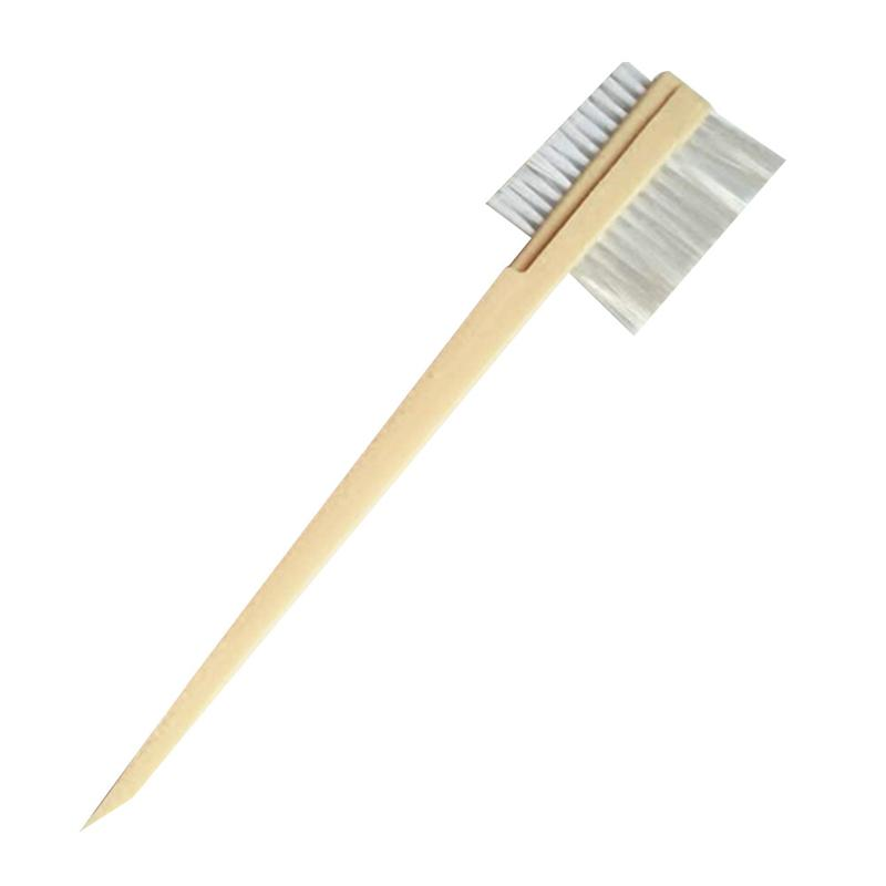 LUOEM Double Headed Groove Brush Automobile Motor Door Window Brush Gap Cleaning Tools Accessories (White)