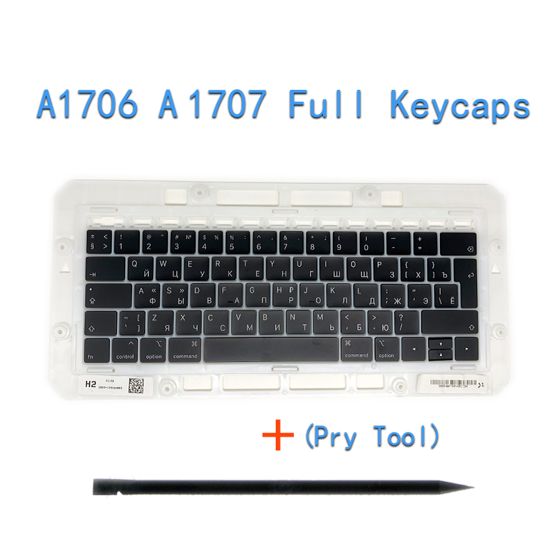 """Image 2 - Original A1706/A1707/A1708 Russian Keycaps For Macbook Pro/Air Retina 13"""" 15"""" A1932/A1990/A1989 RU Keys Replacement Keyboard-in Replacement Keyboards from Computer & Office on"""