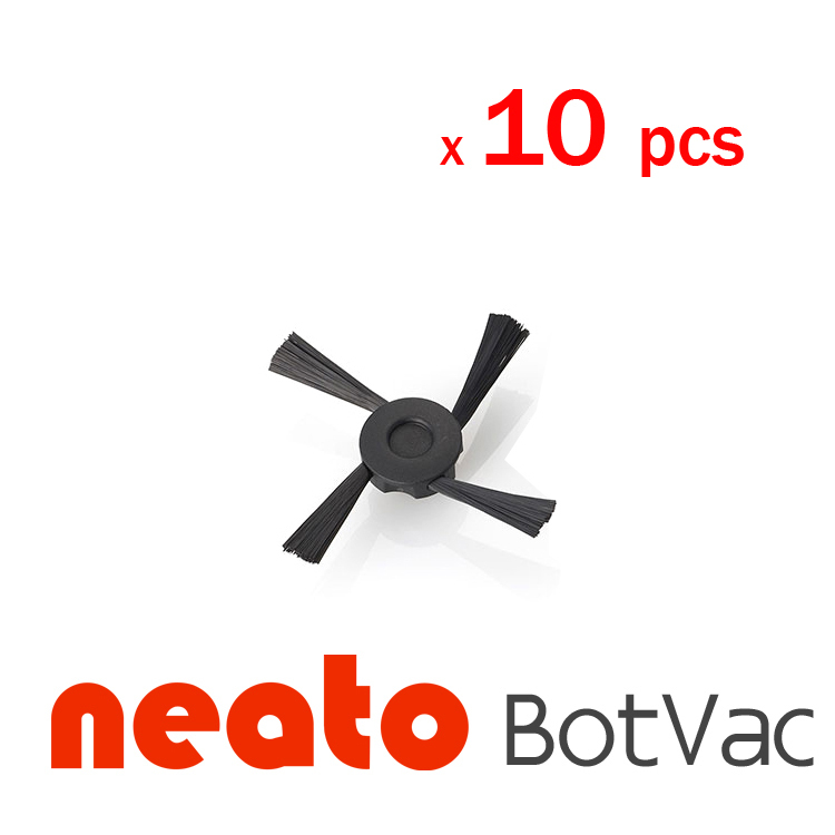 10 pcs Neato Side Brush for vacuum cleaner Accessaries Replacement for Neato 945-0130 BotVac 65 neato botvac 70 70e 80 85 4x silicone blades 4x brush 1x beater bearing replacement for neato botvac 70e 75 80 85 automatic vacuum cleaner robots