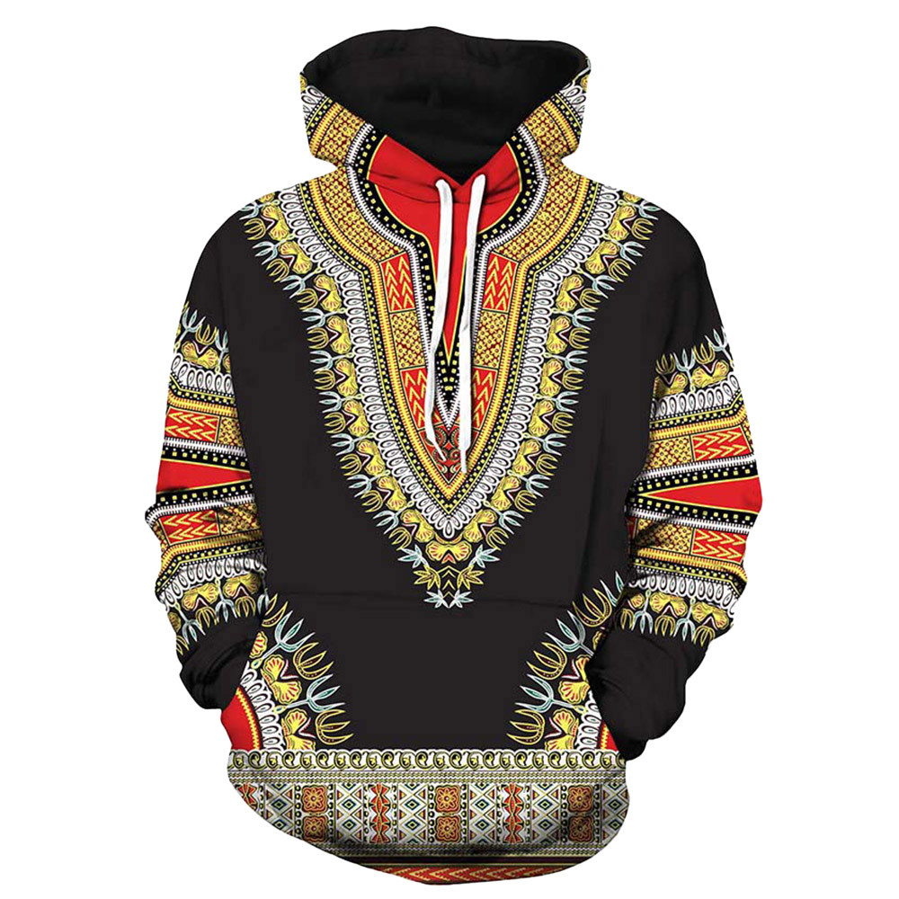 Lovers Autumn//Winter African 3D Print Long-Sleeve Dashiki Hoodies Sweatshirt Top