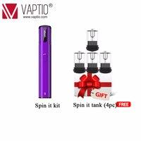 Pod Vaping electronic cigarette 500mAh Vaptio Spin IT kit 15W built in battery 1.8ml Atomizer refillable All in one vape pen Kit