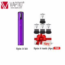 Pod Vaping electronic cigarette 500mAh Vaptio Spin IT kit 15W built in battery 1.8ml Atomizer refillable All-in-one vape pen Kit