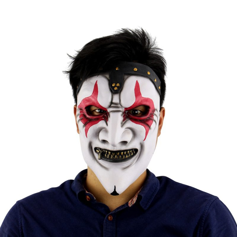 halloween scary clown latex mask cosplay full face horror masquerade adult ghost party mask for halloween - Halloween Scary Faces