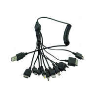 Multi-Function Charger Cable 10 in 1 Universal Micro Mini USB Cables Multi Jack Charger Cable Spring Line Bundles