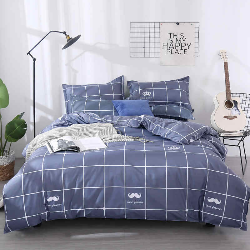 3 PCS Bedding Set King Duvet Cover/ Quilt Cover/comforter Cover + 2 Pillowcase Bed Cover Size 150*200/180*220/200*230/220*240
