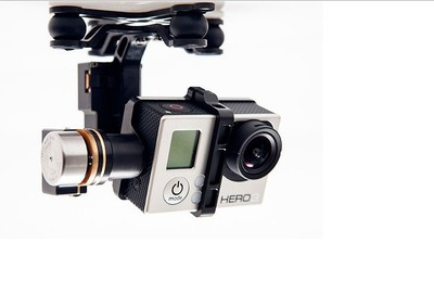 Profession DJI Zenmuse H3 - 2D Z15  Phantom GoPro HD Camera Gimbal dji phantom 2 build in naza gps with zenmuse h3 3d 3 axis gimbal for gopro hero 3 camera