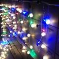 Natal ao ar livre 3.5 m cair 0.3-0.5 m levou cortina Icicle luzes piscando Cordas Luzes Led de Casamento ano Novo levou corda cortina