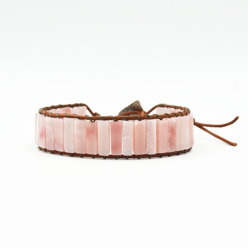 Hot Sale Vintage Leather Bracelet Natural Stone Bracelets Woven Multilayer Bohemia Handmade Jewelry Gifts Dropshipping