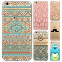 Soft TPU Back Skin Case Cover For IPhone 6 6s 4 7 Inch Retro Pattern Silicon