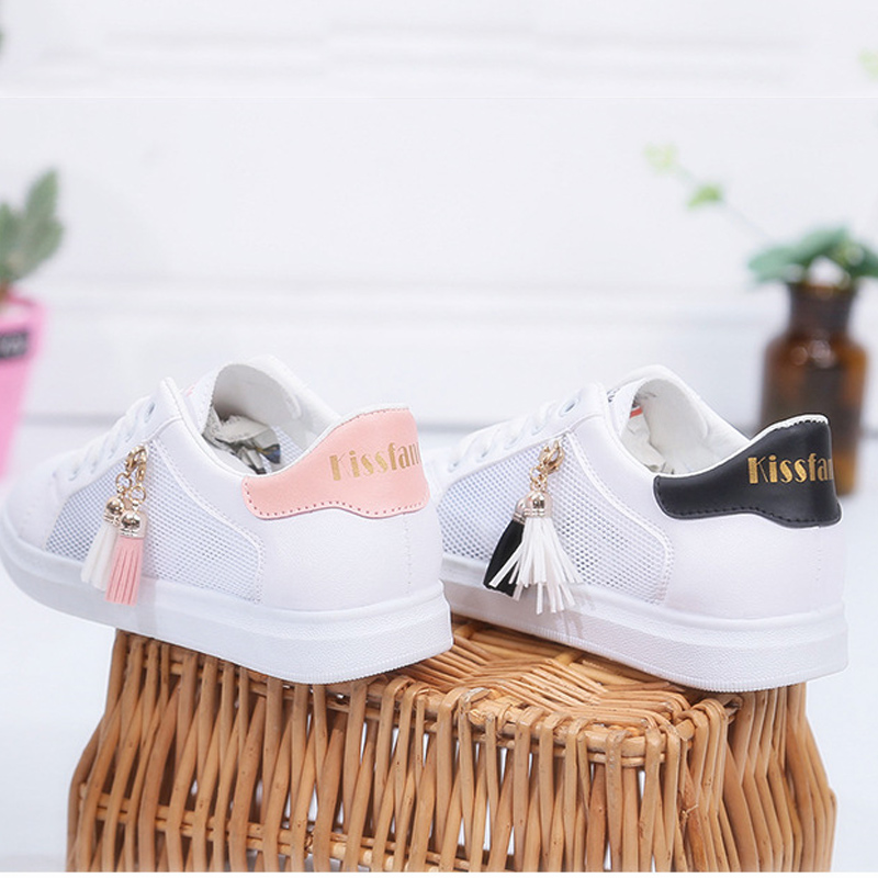 ddb91a1b210 Vulcanize shoes women fashion sneakers summer fringes air mesh ladies shoes  size 35 39 sweet sneakers for girls -in Women's Vulcanize Shoes from Shoes  ...