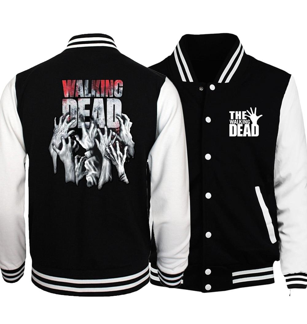 The Walking Dead Prinitng Baseball Uniform 2017 Spring Autumn New Fashion Funny Clothing Brand Streetwear Casual Hoodies Man